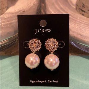 J. Crew Pearl drop earrings.